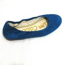 Sam Edelman Suede Leather Flats Shoes Women Size 6.5 M Blue Slip-on Roun... - $34.64