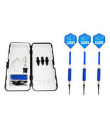 Blue Detroit Lions Standard Rubberized Sure Grip Soft Tip Dart Set + Case 18g -3 - $23.93