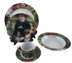 Vintage Sakura Renoir Two Sister Art Painting Dinnerware 5 Piece Place S... - $46.71