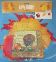 Thanksgiving Fall Happy Harvest Cut Out Decorations & Turkey Paper Napkins - $13.95