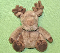 "Bath Body Works Christmas Moose Reindeer Brown Plush Green Collar 9"" Teddy Toy - $20.79"