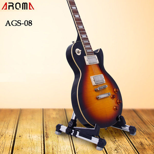 Aroma AGS-08 Foldable Metal Stand For Guitar Electric or Acoustic Guitar