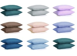 NEW ULTRA SOFT PILLOWCASES - 2 Pillow Cases Per Set KING Size Many Color... - $9.45