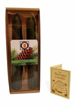 """100 Percent  Pure Beeswax 6"""" Pine Cone Scented Taper Candle Pair, Tapers - £7.76 GBP"""