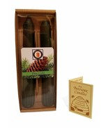 """100 Percent  Pure Beeswax 6"""" Pine Cone Scented Taper Candle Pair, Tapers - $10.99"""