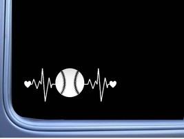 Baseball Lifeline Sticker L409 8 inch heartbeat decal - $6.46