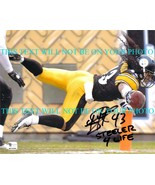 TROY POLAMALU SIGNED AUTO 8x10 RP PHOTO PITTSBURGH STEELERS  STEELER FOR... - $17.99