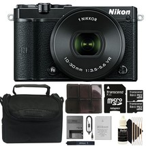 Nikon 1 J5 Mirrorless Digital Camera with 10-30mm Lens and 16GB Kit - $332.31