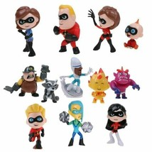 Great Incredibles 2 Figures Play set Toy Disney Pixar Film 12pcs Cake To... - $9.69