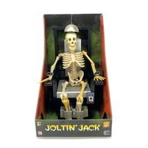 Gemmy Joltin' Jack Animated Electric Chair Skeleton Halloween NIB 2005 - $56.17