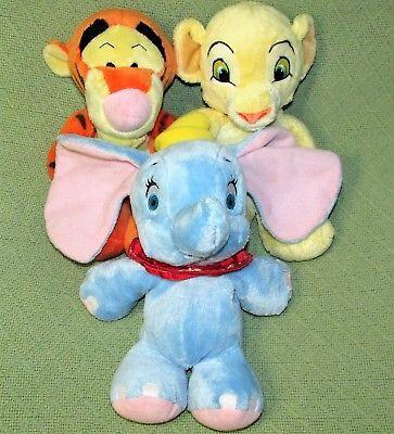 "DISNEY BABIES DREAM LOT Dumbo SIMBA Tigger Stuffed Animals 10"" Soft BABY Toys image 2"