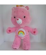 2007 Nanco Care Bears Cheer Bear Soft Pink Plush Stuffed Animal Doll Toy... - $11.82