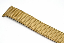 18-22MM SHORT GOLD STAINLESS STEEL TWIST O FLEX EXPANSION WATCH BAND STRAP - $19.79