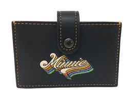 COACH X DISNEY Minnie Accordion Card Case Glitter Mouse 29342 NWOT Leather - $156.41