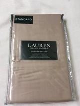 Ralph Lauren 2 Oxford Tan Standard Pillowcases Dunham Sateen 300 TC Cott... - $24.74