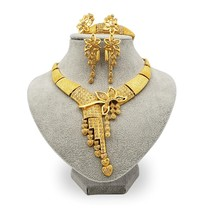 New African Ethiopia Fashion Gold Color Jewelry Wedding Dubai Gift Set - $22.00