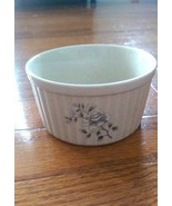 Southampton Stoneware - Custard Bowl/Ramekin - White Rose - Small Mark - $7.49