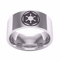 Classic Stainless Steel Star Wars Themed Unisex Ring / The Empire Symbol  - $7.99