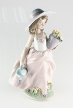 "LLADRO ""A Wish Come True"" 7676 Girl with Flowers and Watering Can Retired! - $237.60"