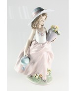 """LLADRO """"A Wish Come True"""" 7676 Girl with Flowers and Watering Can Retired! - $237.60"""