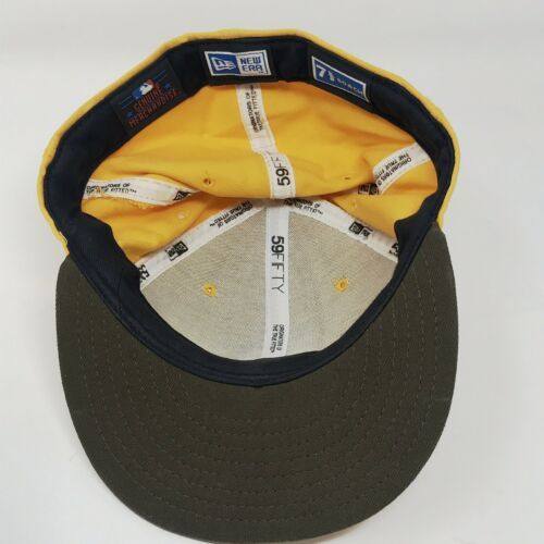 New Era 59Fifty San Diego Padres 7 5/8 Fitted USA Wool Hat Gold & Brown image 6