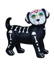 Day Of The Dead Skeleton Puppy Standing Halloween Figurine - $34.95