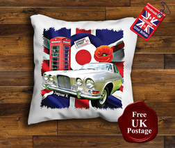 Jaguar Mk 10 Cushion Cover, Jaguar X Mk10, Union Jack, Mod, Target, Cushion - $9.01+