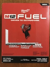 Milwaukee M12 2554-20 12-Volt FUEL 3/8-Inch Stubby Impact Wrench Bare To... - $165.00
