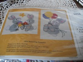 Bouncing Bunnies Cross Stitch Waste Canvas Kit - $10.00