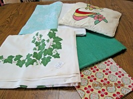 4 Vintage Table Cloths Doll Quilt, Novelty   Pillow                     ... - $8.68
