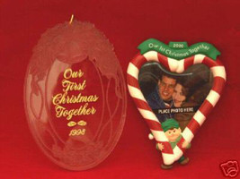 Two Hallmark Keepsake Christmas 1998 & 2000 Ornaments - $5.93