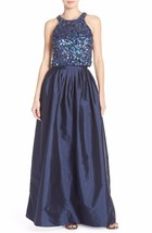 Adrianna Papell Embellished Two-Piece Ballgown Dress Sz 0 - Mrsp $298 - $137.75