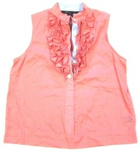 Marc by Marc Jacobs Cotton Ruffle Tank Top Blouse in Pink sz 4 - $11.84