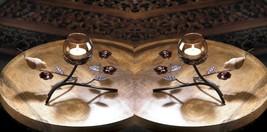 Two Modern Art Partridge Nest Tealight Candle Holders - £18.19 GBP