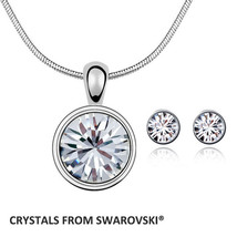 2019 women mother's gift with Crystals from Swarovski round pendant neck... - $18.32