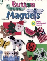 Button Magnets HoWB Plastic Canvas Pattern Booklet #181107 36 Designs - $4.47