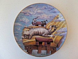 1996 Danbury Mint Comical Cats Gary Patterson Plate Cat Day Afternoon LE #D6407 - $17.28