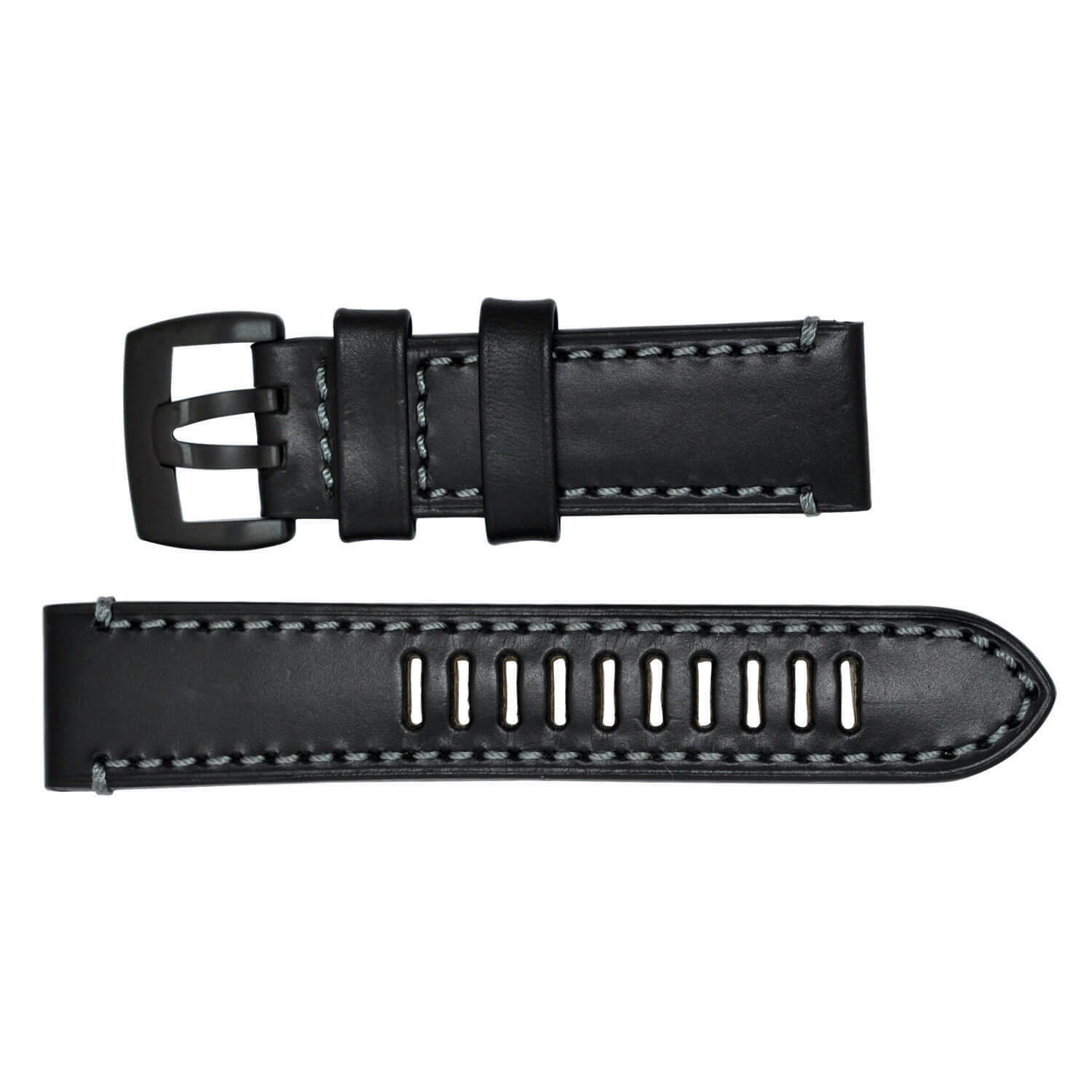 Luminox Watch Band Fied Series 1800 Black Leather Black Buckle Strap FE1800.20B