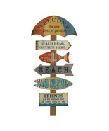 WELCOME TO BEACH Wall Decor Wooden Sign Vacation House Plaque  - $25.98