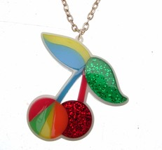 Necklaces For Women Pendant Necklace Statement Necklaces Cherry Pendant - $12.86