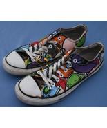 Converse All Star Zapatillas Talla 10/12 bajo Cómic Divertido Estampado ... - $22.39