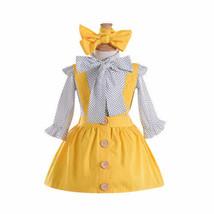 2018 Pretty Princess Kids Baby Girl Sets Girl Ruffle Bow Tie Dots Shirt ... - $13.45+