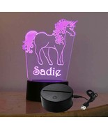 Kids Personalized Unicorn Table Top Night light, USB/110V - $32.67+