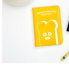 Brunch Brother Enamel Travel Passport Case Cover Holder (Toast Yellow) image 5