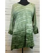 Karen Kane Desert Gypsy 3/4 Sleeve Top Tunic Blouse Side Slit Size 1X NE... - $38.88