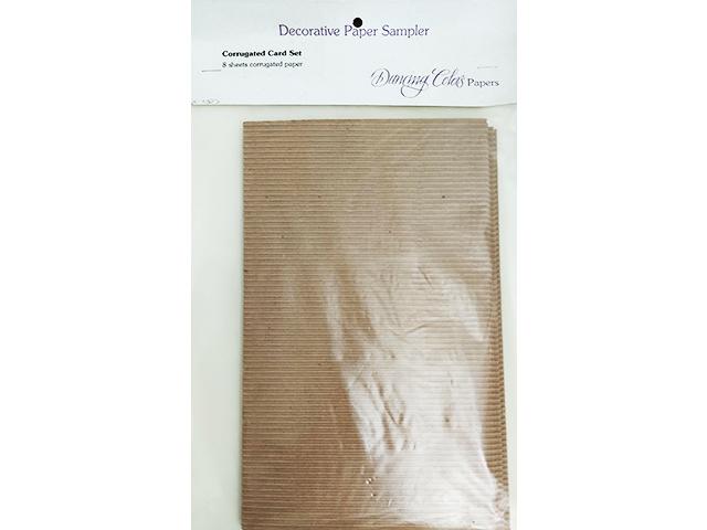Dancing Colors Paper, Decorative Paper Sampler, Corrugated Card Set, 8 Sheets