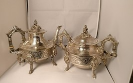 French antique silver plated coffee pot and matching sucrier by Arnand F... - $605.45