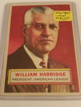 1956 Topps #1 Will Harridge PRESIDENT : AMERICAN LEAGUE - $28.45