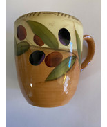 Clay Art Oliva Italiana - Antique Olive-  Hand Painted Mug - $6.99