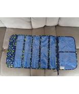 Vera Bradley Keep It Up Organizer Indigo Pop Travel Bag Jewelry Makeup C... - $39.99